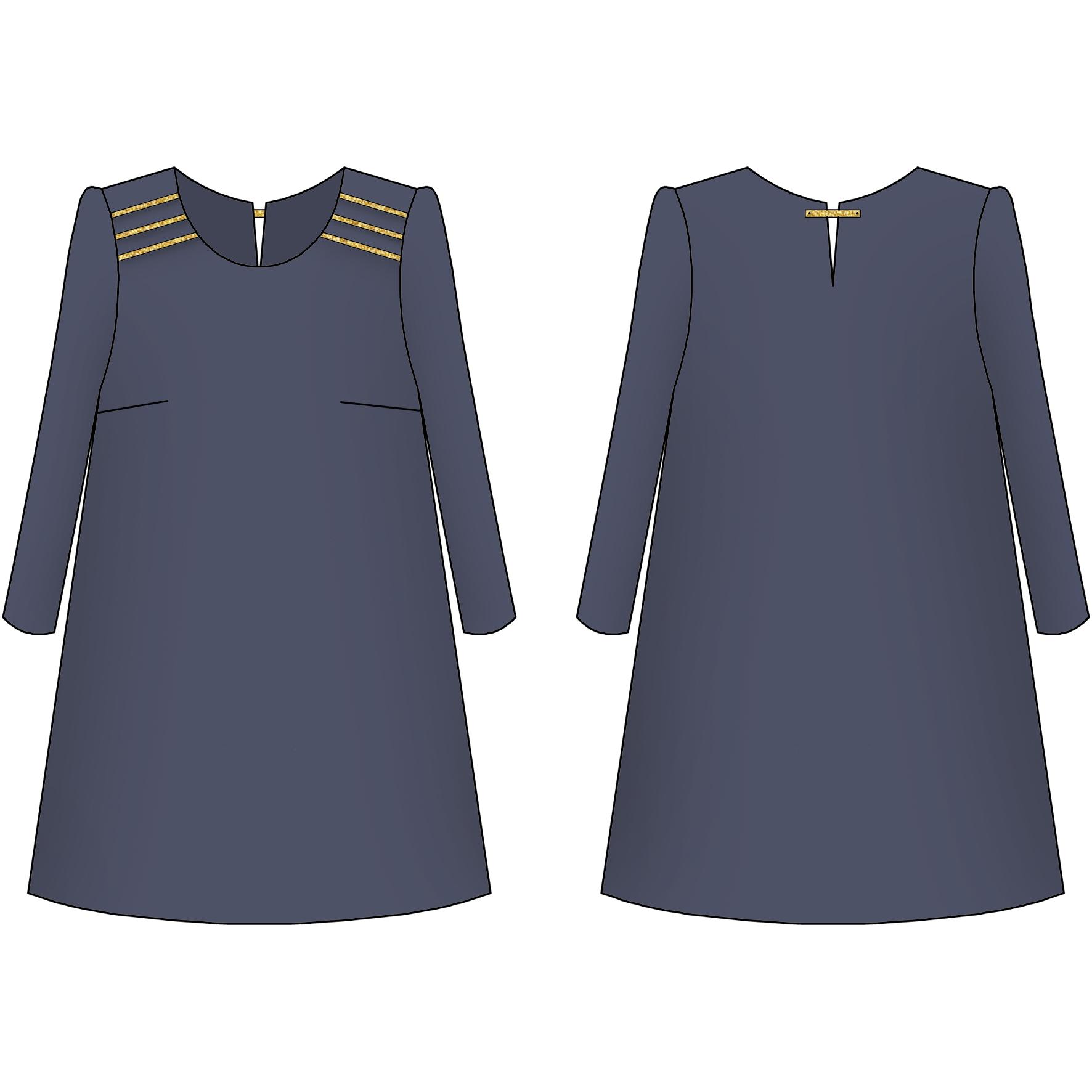 Nour la robe orn e lady patrons de couture cours for Coudre a passe simple