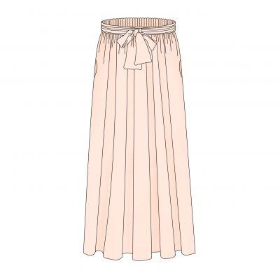 patron de couture femme jupe longue Pastel