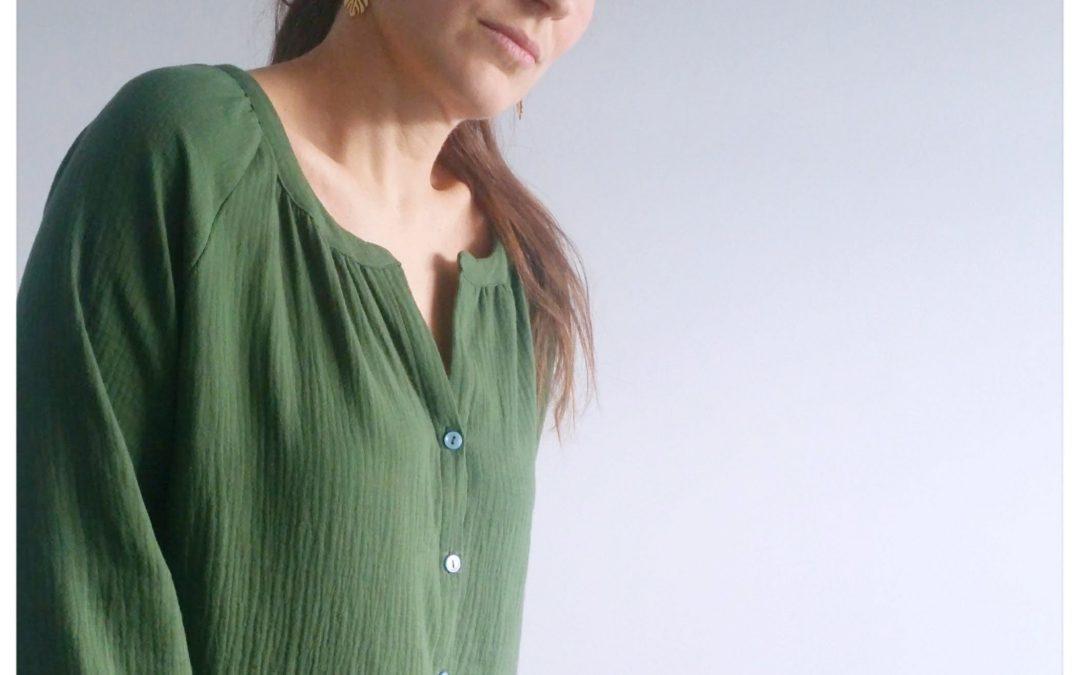 nouveau patron de couture femme : CAMPANULE – la chemise bohème