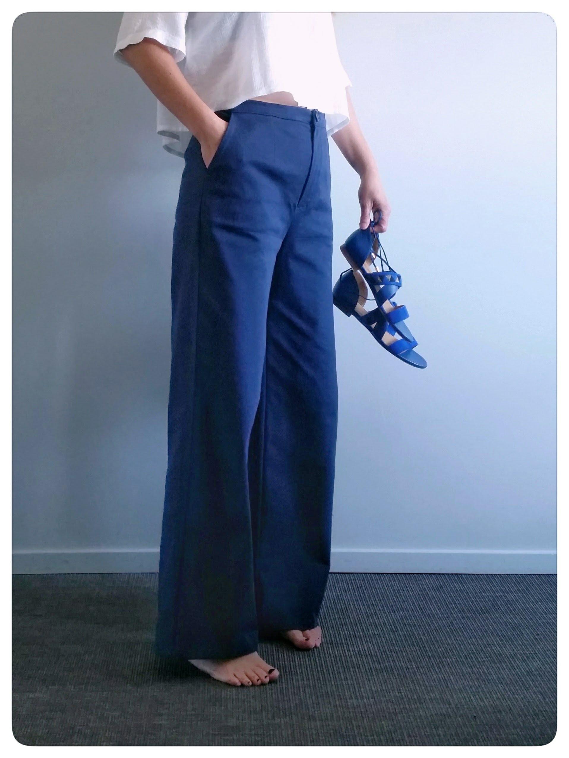 patron de couture femme romarin le pantalon palazzo. Black Bedroom Furniture Sets. Home Design Ideas