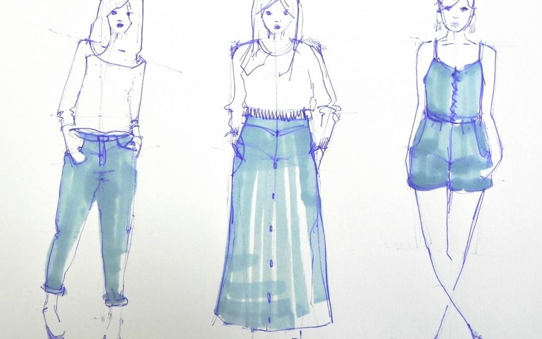 le jeans: la matière de l'été