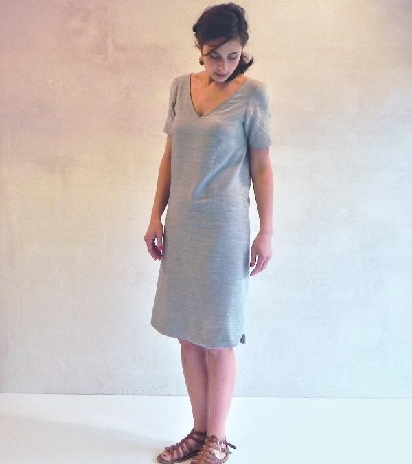nouveau patron de couture femme : Pachira – la robe tressée