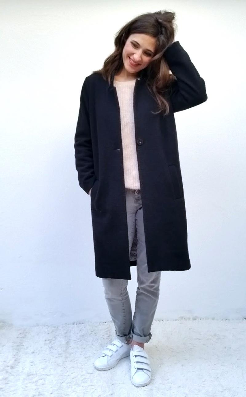 Patron manteau femme droit