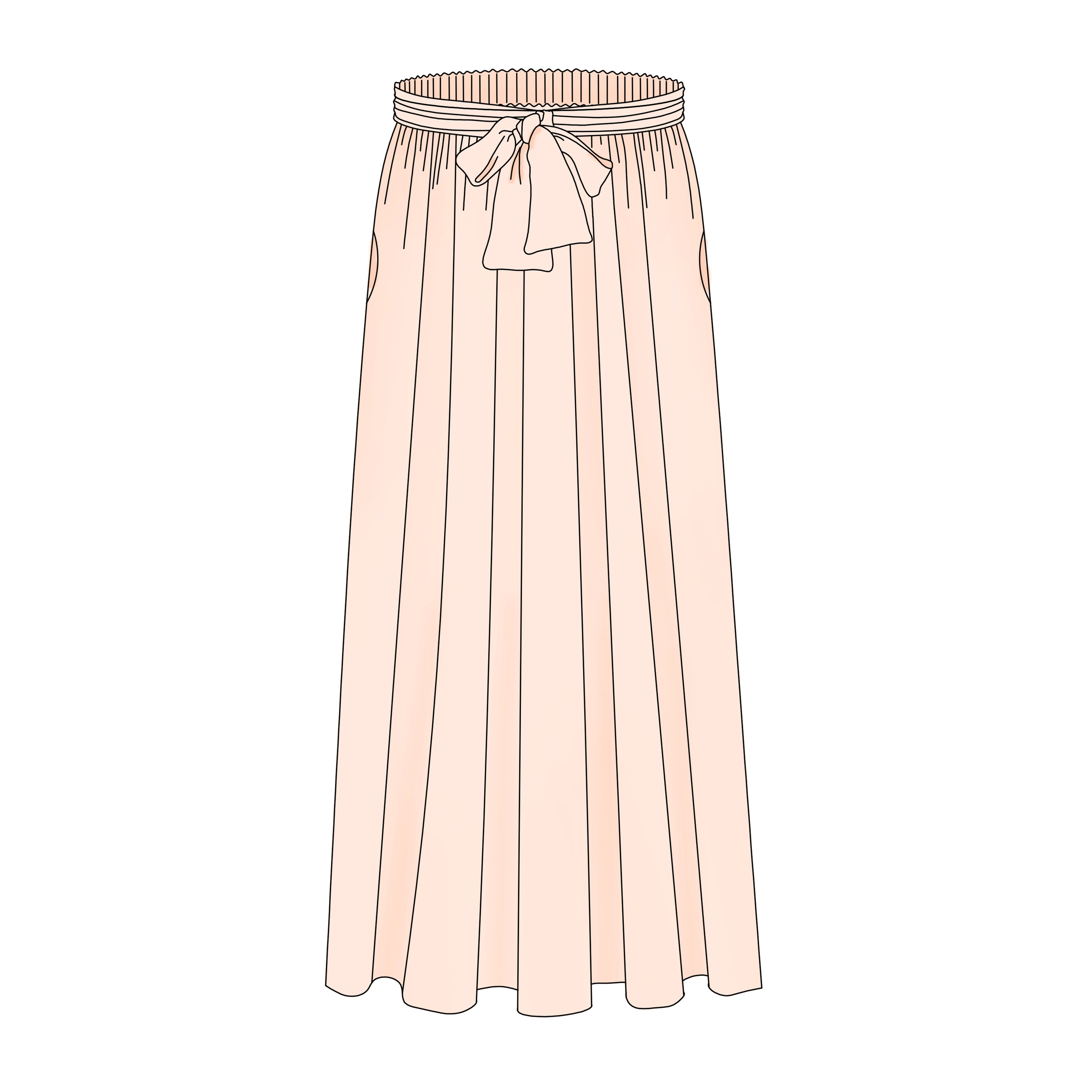 598a343805af86 Pastel - la jupe longue - FR/EN