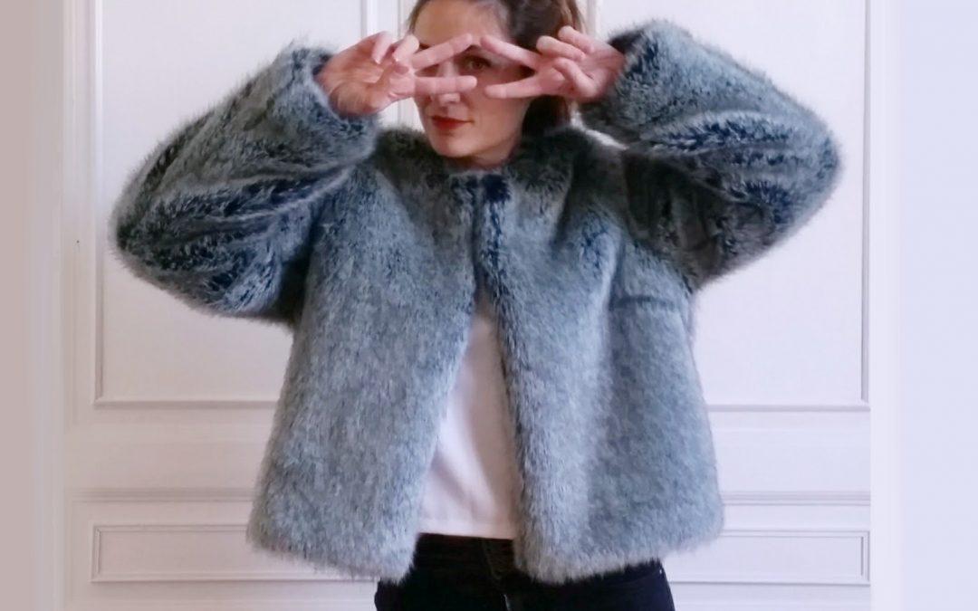 nouveau patron de couture femme : KIWI la veste en (fausse) fourrure